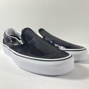Vans Classic Slip-On Micro Sequins Black Sneakers